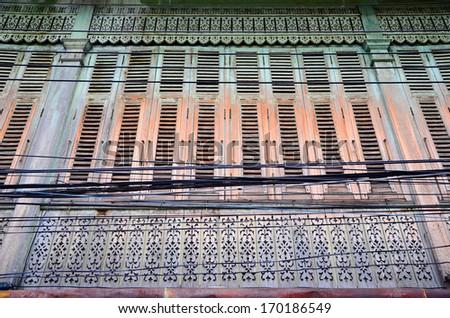 Vintage Thai Window - stock photo