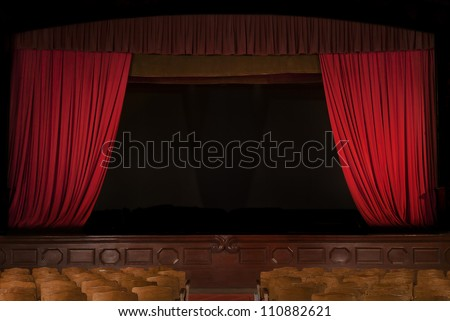 Vintage Theater - stock photo