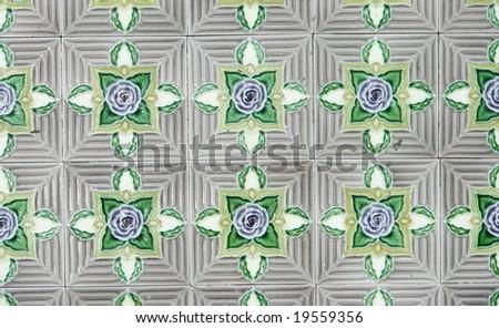 vintage tiles pattern - stock photo