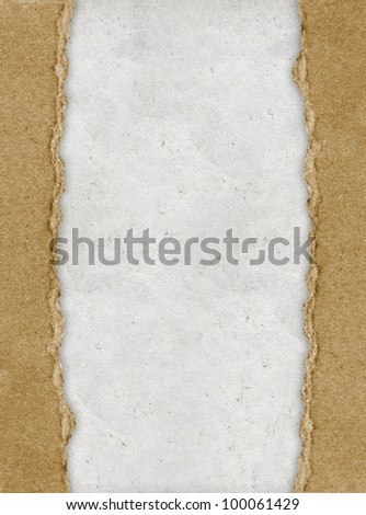 vintage torn paper with copyspace for your text - stock photo