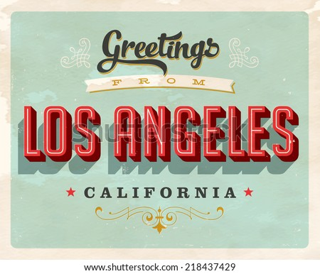 Vintage Touristic Greeting Card - JPG Version - stock photo