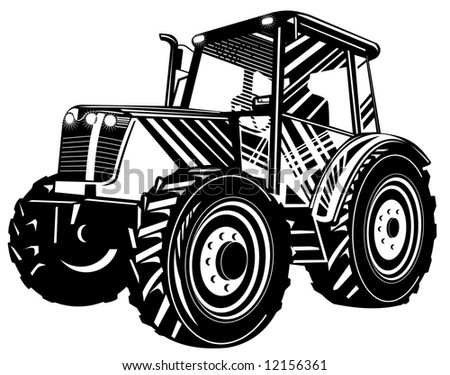 Vintage tractor - stock photo