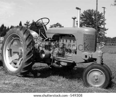 Vintage Tractor III - stock photo