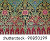Vintage traditional Thai handmade fabric texture background - stock photo