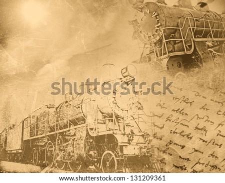 Vintage transportation background