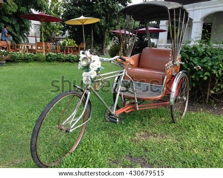 Vintage tricycle in thailand