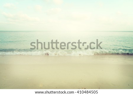 Vintage tropical beach in summer - stock photo