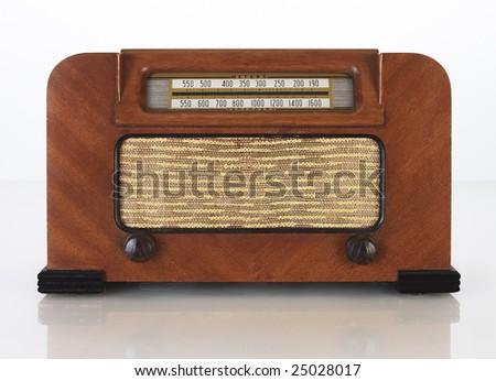 Vintage Tube Radio - stock photo