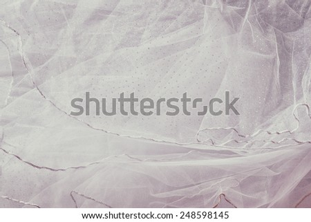 Vintage tulle chiffon texture background. wedding concept  - stock photo