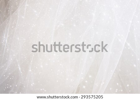 Vintage tulle chiffon texture background with glitter overlay. wedding concept  - stock photo