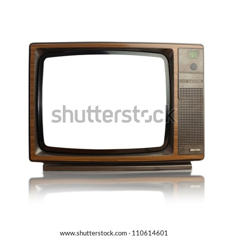 vintage tv - stock photo