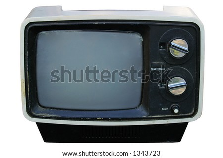 Vintage TV - clipping path included - stock photo