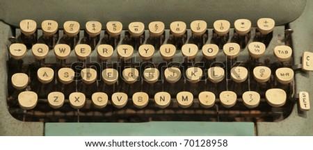 Vintage typewriter - stock photo