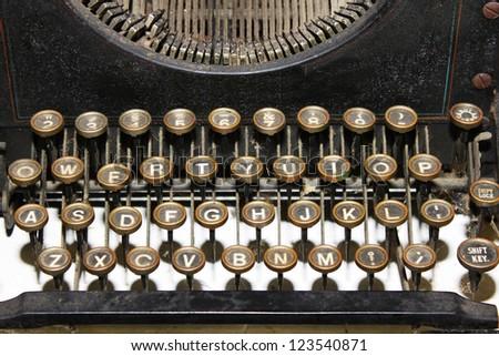 Vintage typewriter closeup - stock photo