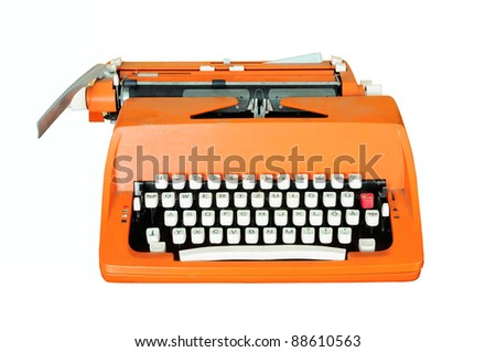 Vintage typewriter isolated - stock photo