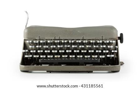 Vintage typewriter isolated on white background - stock photo