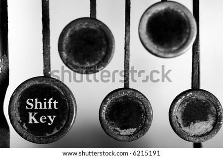 Vintage Typewriter keys -- blank for text - stock photo