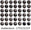 Vintage typewriter keys with natural shine isolated - stock photo