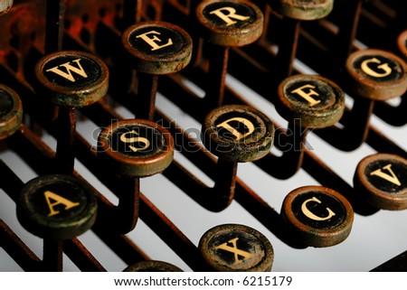 Vintage Typewriter -- rusted look - stock photo