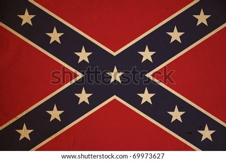 Vintage United States Confederate flag background. - stock photo