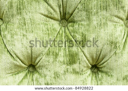 vintage upholstery from sofa - stock photo