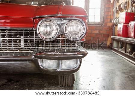 Vintage US classic car - stock photo