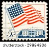 Vintage US postage stamp - stock photo