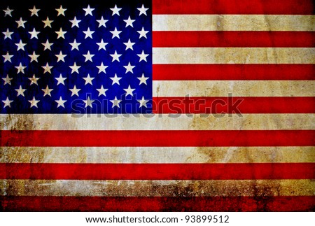 Vintage USA flag - stock photo