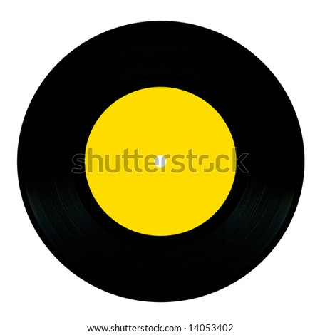 Vintage vinyl record isolated on white