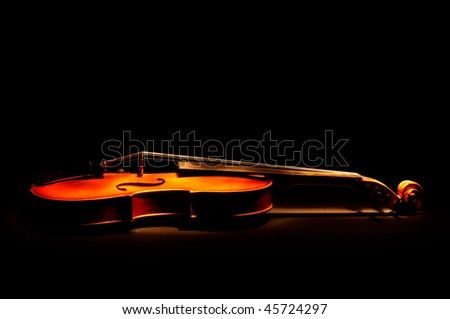 Vintage violin - stock photo