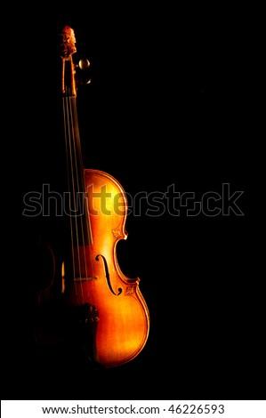 Vintage violin - stock photo