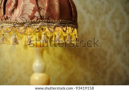 vintage wall lamp - stock photo