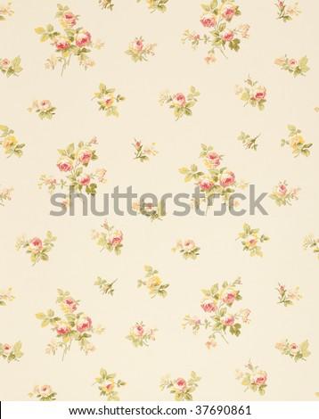 vintage wallpaper background - stock photo