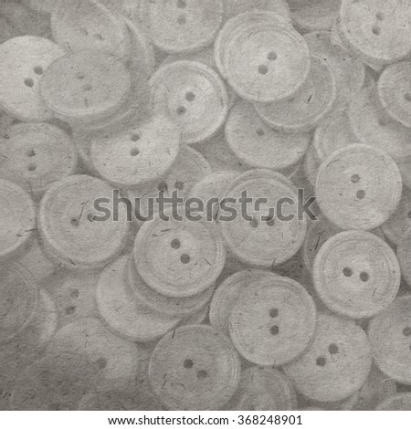 vintage wallpaper background with button - stock photo