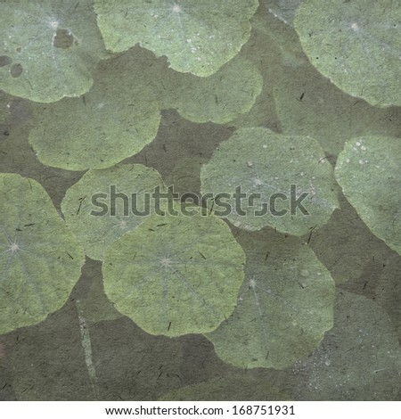vintage wallpaper background with flowers - stock photo
