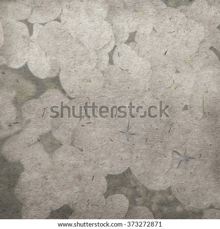 vintage wallpaper background with hydrangea paniculata  - stock photo
