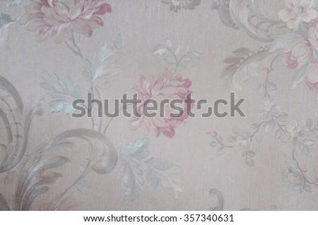 vintage wallpaper decorative background - stock photo