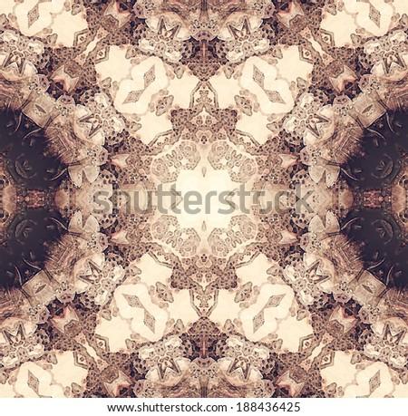 Vintage wallpaper - seamless pattern - stock photo