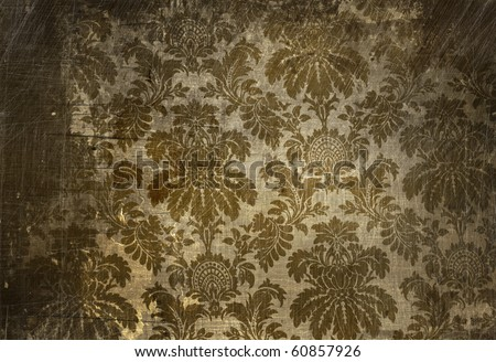 Vintage wallpaper with a grunge affect - stock photo