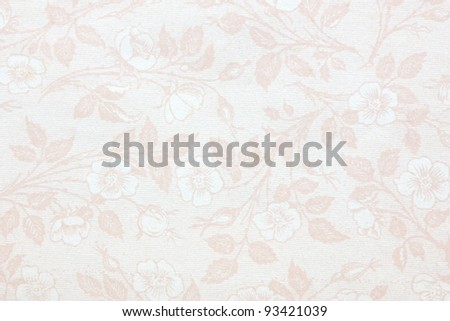 vintage wallpaper with blossoms - stock photo