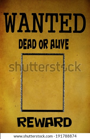 Vintage Wanted Poster Template Background Stock Illustration ...