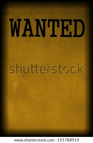 Wanted Poster Stock Illustration 196150760 - Shutterstock