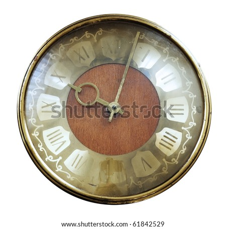 vintage watch isolated - stock photo