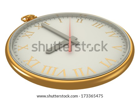 vintage watch. isolated on a white background. 3d - stock photo