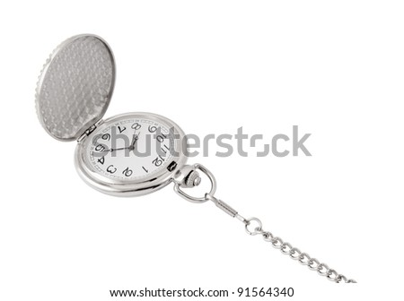 Vintage watch isolated on white background - stock photo