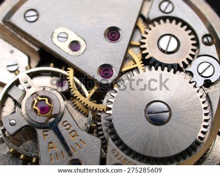 vintage watch machinery macro detail