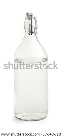 vintage water bottle - stock photo