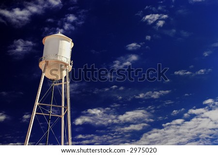Vintage Water Tower - stock photo