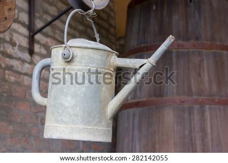 Vintage watering - stock photo