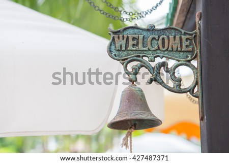vintage welcome label